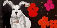 "Warhol's Rabbit Laurelea Kim  12"" x 24"" acrylic on canvas $390"