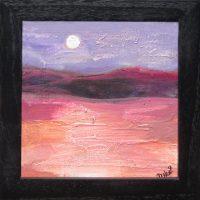 """Sonoran Moon Laurelea Kim 7.25"""" x 7.25"""" acrylic on canvas $145"""