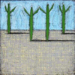 """Four Tall by Nancy Pendleton 48"""" x 48"""""""