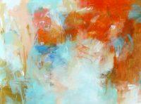 "Summer Debora Stewart 40"" x 54"" acrylic on canvas $4850"