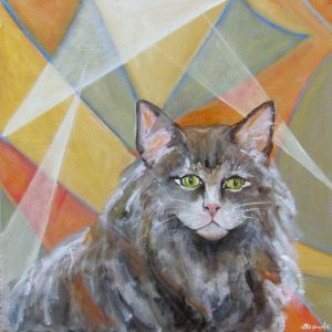 """Transitional Cat by Sheridan Brown 20"""" x 20"""""""