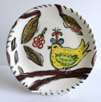 "Bird Plate Patricia Lazar 8"" ceramic plate"