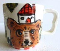 """Bear Mug Patricia Lazar 3.25"""" x 4.5"""" x 3"""" ceramic mug $44"""
