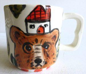 """Bear Mug by Patricia Lazar, 3.25"""" x 4.5"""" x 3"""", ceramic mug"""