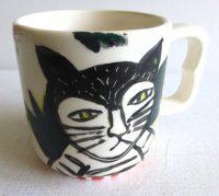 """Cat Mug Patricia Lazar 3.25"""" x 4.5"""" x 3"""" ceramic mug $44"""