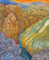 """Black Canyon Acacia Alder 60"""" x 48"""" acrylic on canvas $9500"""