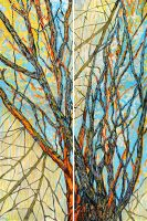 """Winged Boughs - Diptych Acacia Alder 60"""" x 40"""" acrylic on canvas $6900"""