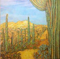 "Sentinel Acacia Alder  36"" x 36"" acrylic on canvas $3900"