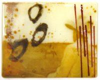 """Winter Gold Maura Allen 8"""" x 10"""" glass $1100"""