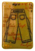 """Postcards From the West: A Fine Trip Maura Allen 6"""" x 4"""" glass $275"""