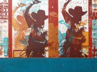 "My Western Days Maura Allen 30"" x 40"" acrylic on panel $4400"