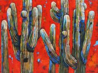 """Under the Sonoran Sky Diane F Barbee 30"""" x 40"""" acrylic on canvas $2950"""