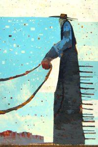 """Ace Sherri Belassen  72"""" x 48"""" oil on canvas $17,500"""