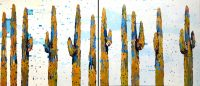 """Cacti Social Sherri Belassen 72"""" x 168"""" oil on canvas"""