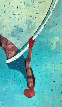 """Swing Sherri Belassen 72"""" x 42"""" oil on canvas $15,000"""