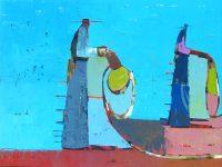 "Desert Mix Sherri Belassen 36"" x 48"" oil on canvas"