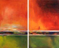 "Heat D.J. Berard 80"" x 96"" acrylic on canvas $6850"