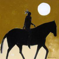 """Moon Ride Karen Bezuidenhout  48"""" x 48"""" acrylic on canvas $5400"""