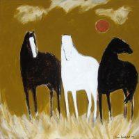 "New Day Karen Bezuidenhout 48"" x 48"" acrylic on canvas $5400"