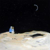"The Stargazers Karen Bezuidenhout 48"" x 48"" acrylic on canvas $5400"