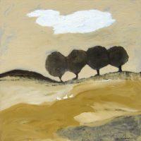 """Thierry Farm Karen Bezuidenhout  40"""" x 40"""" oil on canvas $3900"""
