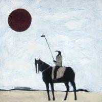 "Red Sun Karen Bezuidenhout 48"" x 48"" acrylic on canvas $5800"
