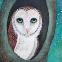 """Mi Casa Lori Faye Bock 16"""" x 16"""" acrylic on panel $1575"""