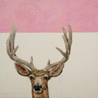 """In the Velvet Brian Boner 38"""" x 38"""" oil on canvas $2000"""