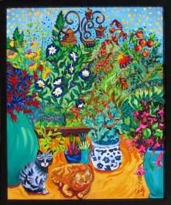 "Los Gatos Garden by Cathy Carey, 25"" x 21"", oil on canvas"