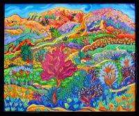"Living on Paradise Cathy Carey 21"" x 25"" oil on canvas $1420"