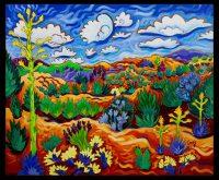 """Sunny Desert Days Cathy Carey 21"""" x 25"""" oil on canvas $1560"""