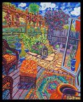 "Artista Casita Cathy Carey 31"" x 25"" oil on canvas $2365"