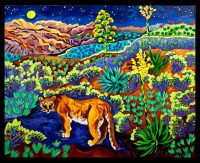"""Night Moves Cathy Carey 25"""" x 31"""" oil on canvas $2365"""