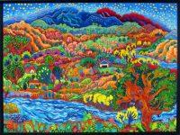 """A Peaceful World Cathy Carey 31.25"""" x 41.25"""" oil on canvas"""