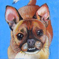"""Roger the Chug Timothy Chapman 6"""" x 6"""" acrylic on canvas $250"""