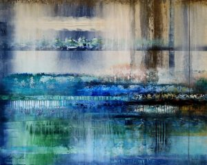 """Whisper by Josiane Childers, 48"""" x 60"""", mixed media on canvas"""