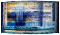 "Mirage Josiane Childers 24"" x 45"" x 7"" reverse painted plexi in steel frame $3890"