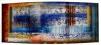 "Inspire I Josiane Childers 16"" x 40"" x 5.5"" reverse painted plexi in steel frame $2300"
