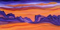 "North Ridge Judy Choate 8"" x 16"" acrylic on canvas $500"