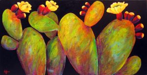 "Wonderful Together by Patrick Coffaro 24"" x 48""oil on canvas$3500"