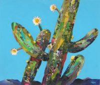 "Blooming Anew Patrick Coffaro  34"" x 40"" mixed media $3500"