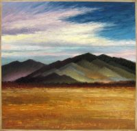 """Painting Mountains Through a Prism Jeff Cochran 41"""" x 43"""" oil on canvas $3950"""