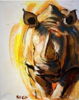 """Charge Bill Colt 20"""" x 16"""" acrylic on canvas $275"""