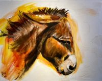 "Francesco Bill Colt 22"" x 28"" acrylic on canvas $325"