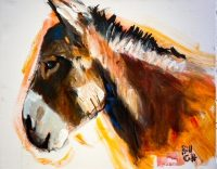 """Jacques Bill Colt 16"""" x 20"""" acrylic on canvas $275"""