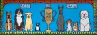 """Top Dog (Best in Show) Melinda D. Curtin 15"""" x 35"""" reversed painting on glass $950"""