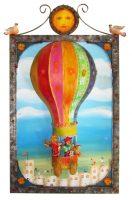 "Balloon Sculpture Charles Davison 38"" x 22"" x 8"" mixed media $2225"
