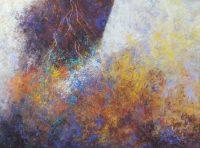 "A Far Journey Frances Dodd 36"" x 48"" cold wax and oil $4100"