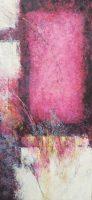 "A Grateful Descent Frances Dodd 60"" x 30"" cold wax and oil $4400"