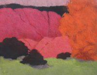 """Deep Arroyos Frances Dodd 40"""" x 52"""" oil on canvas $3800"""